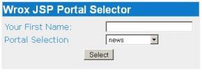 The JSP Portal Example