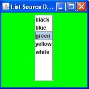 Swing List Program